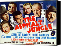 1950 Movies Canvas Prints - The Asphalt Jungle, From Bottom Left Canvas Print by Everett