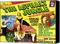 1950 Movies Canvas Prints - The Asphalt Jungle, From Upper Left Canvas Print by Everett