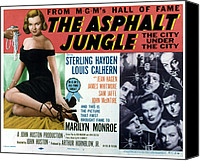 1950 Movies Canvas Prints - The Asphalt Jungle, Left Marilyn Monroe Canvas Print by Everett