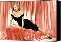 1950 Movies Photo Canvas Prints - The Asphalt Jungle, Marilyn Monroe, 1950 Canvas Print by Everett