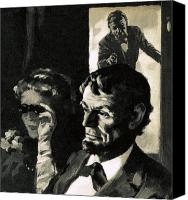 Assassination Canvas Prints - The Assassination of Abraham Lincoln Canvas Print by English School