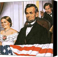 Assassination Canvas Prints - The Assassination of Abraham Lincoln Canvas Print by John Keay