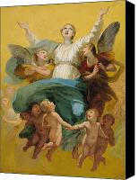 Putti Painting Canvas Prints - The Assumption of the Virgin Canvas Print by Pierre Paul Prudhon
