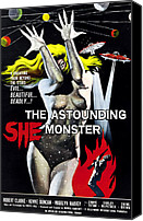 1950s Movies Canvas Prints - The Astounding She-monster, 1-sheet Canvas Print by Everett