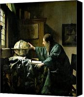 Science Painting Canvas Prints - The Astronomer Canvas Print by Jan Vermeer