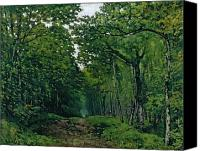 Forest Floor Painting Canvas Prints - The Avenue of Chestnut Trees Canvas Print by Alfred Sisley