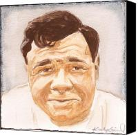 Babe Ruth Painting Canvas Prints - The Babe Canvas Print by Kathryn Gainard