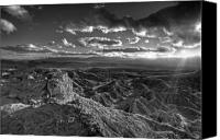 Overlook Canvas Prints - The Badlands Canvas Print by Peter Tellone