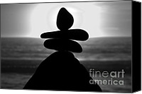 High Quality Canvas Prints - The Balance of Life Black and White Canvas Print by Shayne Skower