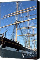 Hyde Street Pier Canvas Prints - The Balclutha . A 1886 Square Rigged Cargo Ship At The Hyde Street Pier in SF California . 7D14135 Canvas Print by Wingsdomain Art and Photography