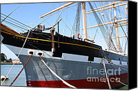 Hyde Street Pier Canvas Prints - The Balclutha . A 1886 Square Rigged Cargo Ship At The Hyde Street Pier in SF California . 7D14136 Canvas Print by Wingsdomain Art and Photography