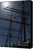 Hyde Street Pier Canvas Prints - The Balclutha . A 1886 Square Rigged Cargo Ship At The Hyde Street Pier in SF . Mast . 7D14157 Canvas Print by Wingsdomain Art and Photography