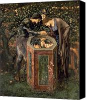 Burne-jones; Sir Edward (1833-98) Canvas Prints - The Baleful Head Canvas Print by Sir Edward Burne-Jones