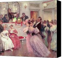 Viennese Canvas Prints - The Ball Canvas Print by Charles Wilda