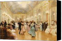 High Society Canvas Prints - The Ball Canvas Print by Victor Gabriel Gilbert