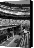 Mlb Canvas Prints - The Ballpark In Arlington Canvas Print by Ricky Barnard