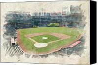 Mlb Canvas Prints - The Ballpark Canvas Print by Ricky Barnard