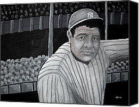 Major League Baseball Painting Canvas Prints - The Bambino Canvas Print by Edwin Alverio