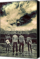 Storm Canvas Prints - The Band Has Arrived Canvas Print by Meirion Matthias
