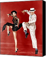 Charisse Canvas Prints - The Band Wagon, From Left Cyd Charisse Canvas Print by Everett