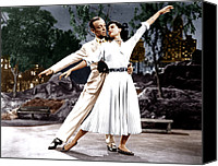 Charisse Canvas Prints - The Band Wagon, From Left Fred Astaire Canvas Print by Everett
