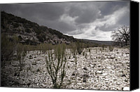 Grey Clouds Canvas Prints - The Bank of the Nueces River Canvas Print by Donna Van Vlack