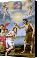 Pouring Painting Canvas Prints - The Baptism of Christ Canvas Print by Ottavio Vannini