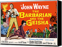 1950s Poster Art Canvas Prints - The Barbarian And The Geisha, John Canvas Print by Everett