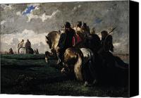 Barbarian Canvas Prints - The Barbarians Before Rome Canvas Print by Evariste Vital  Luminais
