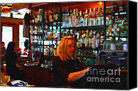 Bars Canvas Prints - The Barmaid Canvas Print by Wingsdomain Art and Photography