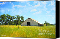 With Photo Canvas Prints - The Barn Canvas Print by Cheryl Young