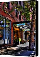 Pioneer Square Canvas Prints - The Barney McCoy Cafe Canvas Print by David Patterson