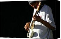 T-shirt Photo Canvas Prints - The Bassman Canvas Print by Joe Kozlowski