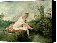 Bathe Canvas Prints - The Bath of Diana Canvas Print by Jean Antoine Watteau