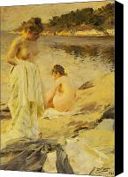 Dry Painting Canvas Prints - The Bathers Canvas Print by Anders Leonard Zorn