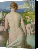 Nudes Canvas Prints - The Bathers Canvas Print by William Mulready