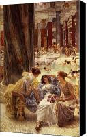Alma-tadema; Sir Lawrence (1836-1912) Canvas Prints - The Baths of Caracalla Canvas Print by Sir Lawrence Alma-Tadema