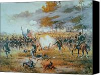 Engagement Canvas Prints - The Battle of Antietam Canvas Print by Thure de Thulstrup
