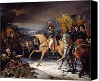 Austrian Canvas Prints - The Battle of Hohenlinden Canvas Print by Henri Frederic Schopin