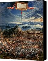 Great Painting Canvas Prints - The Battle of Issus Canvas Print by Albrecht Altdorfer