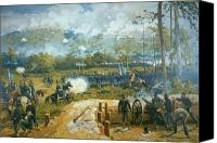 Engagement Canvas Prints - The Battle of Kenesaw Mountain Canvas Print by American School
