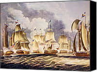 Lake Erie Canvas Prints - The Battle Of Lake Erie, Commodore Canvas Print by Everett