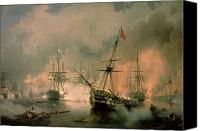 Frigates Canvas Prints - The Battle of Navarino Canvas Print by Ivan Konstantinovich Aivazovsky