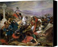 Martyrs Canvas Prints - The Battle of Poitiers Canvas Print by Charles Auguste Steuben