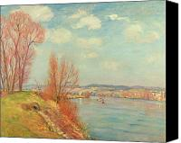Impressionism Canvas Prints - The Bay and the River Canvas Print by Jean Baptiste Armand Guillaumin