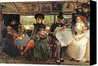 Reading Painting Canvas Prints - The Bayswater Omnibus Canvas Print by George William Joy
