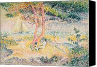 Ports Canvas Prints - The Beach at St Clair Canvas Print by Henri-Edmond Cross