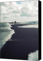 Gull Photo Canvas Prints - The Beach Canvas Print by Joana Kruse