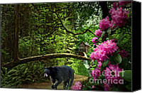 Grist Mill Canvas Prints - The Bear Went Over the Mountain Canvas Print by Lianne Schneider