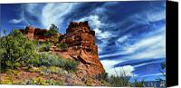 Dan Turner Canvas Prints - The Beast on Thunder Mountain Trail Canvas Print by Dan Turner